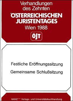 10. Österreichischer Juristentag 1988