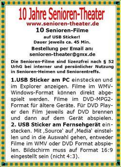 10 Senioren-Filme, lizenzfrei von Wein,  Siegfried