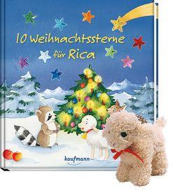 10 Weihnachtssterne für Rica mit Stoffschaf von Ignjatovic,  Johanna, Spang,  Antonia