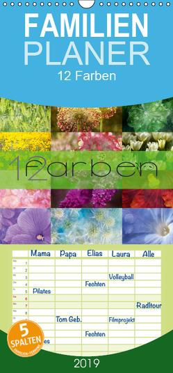 12 Farben Kunst und Küche – Familienplaner hoch (Wandkalender 2019 , 21 cm x 45 cm, hoch) von Cross,  Martina