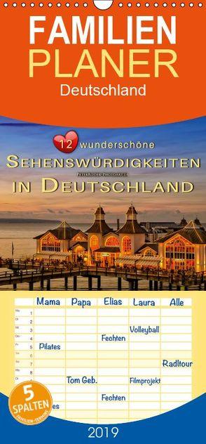 12 wunderschöne Sehenswürdigkeiten in Deutschland – Familienplaner hoch (Wandkalender 2019 , 21 cm x 45 cm, hoch) von Roder,  Peter