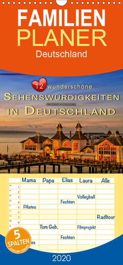 12 wunderschöne Sehenswürdigkeiten in Deutschland – Familienplaner hoch (Wandkalender 2020 , 21 cm x 45 cm, hoch) von Roder,  Peter