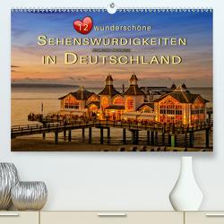 12 wunderschöne Sehenswürdigkeiten in Deutschland (Premium, hochwertiger DIN A2 Wandkalender 2021, Kunstdruck in Hochglanz) von Roder,  Peter