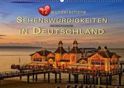 12 wunderschöne Sehenswürdigkeiten in Deutschland (Wandkalender 2019 DIN A2 quer) von Roder,  Peter