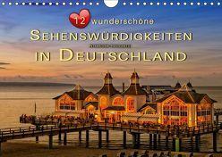 12 wunderschöne Sehenswürdigkeiten in Deutschland (Wandkalender 2019 DIN A4 quer) von Roder,  Peter