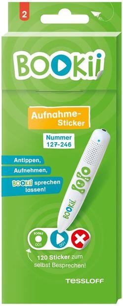 120 BOOKii® Aufnahme-Sticker neutral Paket 2, Nr. 127-246 von Tessloff Verlag