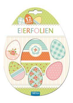 12er Set Eierfolien Vintage
