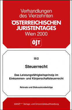 14. Österreichischer Juristentag 2000 Steuerrecht von Beiser,  Reinhold, Birk,  Dieter, Wiesner,  Werner