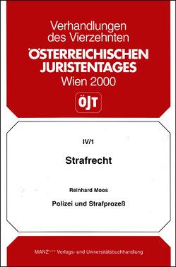 14. Österreichischer Juristentag 2000 Strafrecht von Moos,  Reinhard