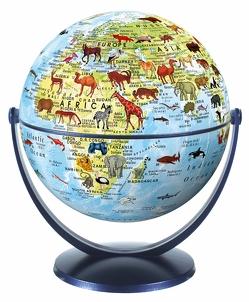 Stellanova 15 cm Dreh-Schwenk Globus Welt der Tiere Kinderglobus