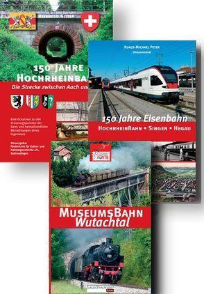 150 Jahre Eisenbahn – Das große Paket zur Hochrheinbahn von Britz,  Dieter, Gitter,  Reinhold, Kappes,  Reinhild, Kessinger,  Roland, Peter,  Klaus-Michael, Zahn,  Herbert