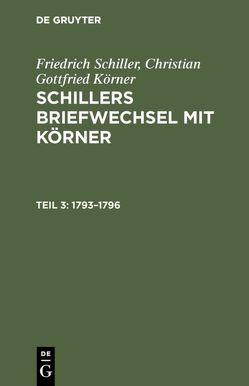 1793 – 1796 von Koerner,  Christian Gottfried, Schiller,  Friedrich von