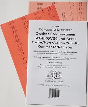 2. Staatsexamen Griffregister Kommentare StGB StPO Nr. 1446 (2019/2020) von Dürckheim,  Constantin, Grassinger,  Nathanael