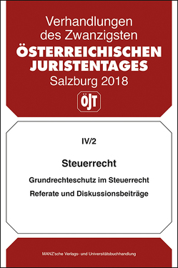 20. Österreichischer Juristentag 2018 Steuerrecht