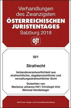 20. Österreichischer Juristentag 2018 Strafrecht von Handstanger,  Meinrad, Hilf,  Marianne Johanna, Urtz,  Christoph