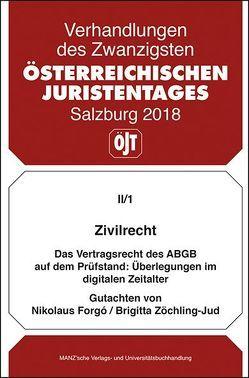 20. Österreichischer Juristentag 2018 Zivilrecht von Forgó,  Nikolaus, Zöchling-Jud,  Brigitta