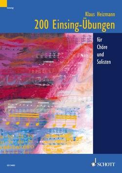 200 Einsing-Übungen von Heizmann,  Klaus