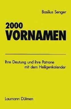 2000 Vornamen von Senger,  Basilius