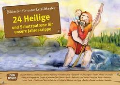 24 Heilige und Schutzpatrone für unsere Jahreskrippe. Kamishibai Bildkartenset. von Groß,  Martina, Lefin,  Petra