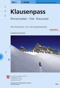 246S Klausenpass Skitourenkarte 1:50 000, wasserfest