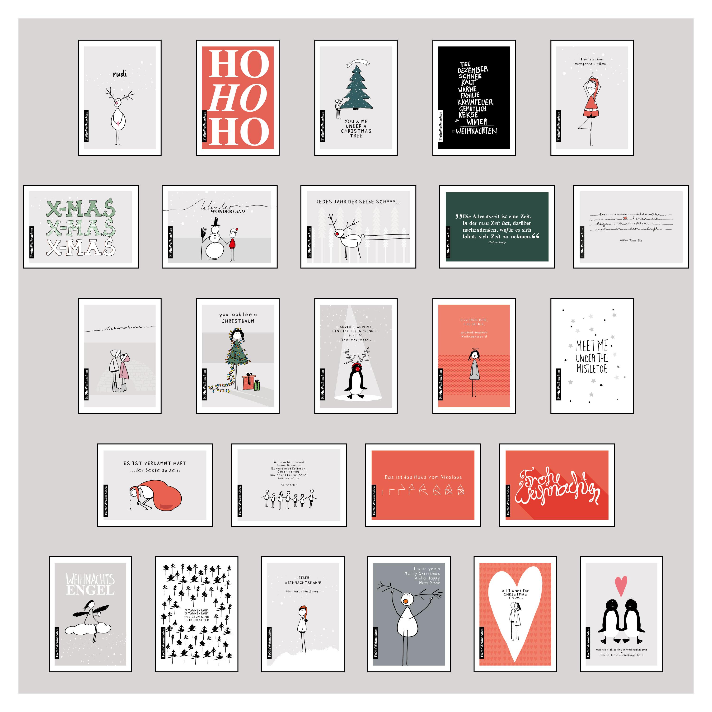 25 handgemachte Weihnachtskarten Teil 1 von Wirth, Lisa: Hochwertiges
