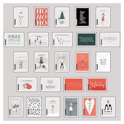 25 handgemachte Weihnachtskarten von Wirth,  Lisa