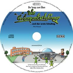 """25 Übungs-CDs """"Die Grünquatschlinge und der erste Schultag"""""""