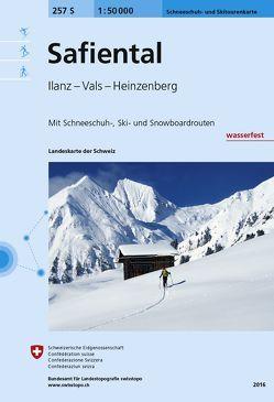 257S Safiental Schneeschuh- und Skitourenkarte