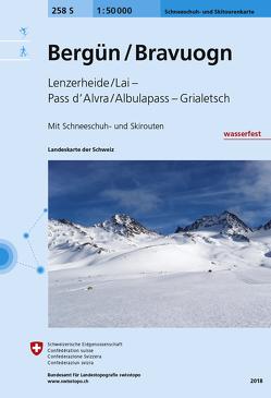 258S Bergün / Bravuogn Schneeschuh- und Skitourenkarte