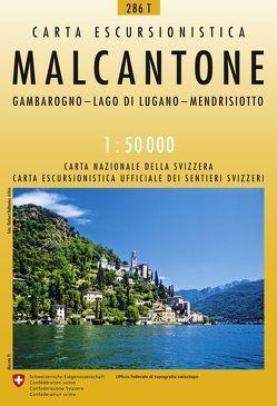286T Malcantone Wanderkarte