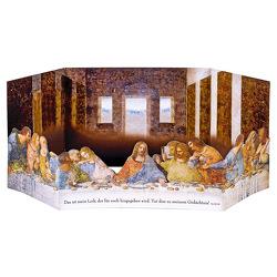 2er Set Aufstellkarte Da Vinci »Das letzte Abendmahl«