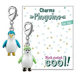 2er-Set Charms »Pinguine«