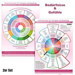 [2er Set] Gefühls- und Bedürfnisfinder für Therapie und Coaching (2018) von Cremer,  Samuel, Schumacher,  Christian