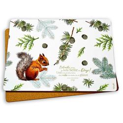 2er-Set: Platzset »Eichhörnchen«