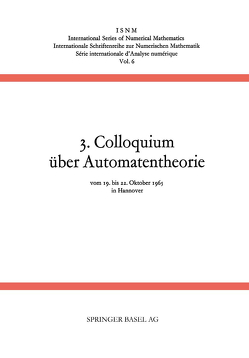 3. Colloquium über Automatentheorie von Händler, Unger