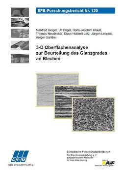 3-D Oberflächenanalyse zur Beurteilung des Glanzgrades an Blechen von Engel,  Ulf, Geiger,  Manfred, Günther,  Holger, Holland-Letz,  Klaus, Krauß,  Hans-Joachim, Leopold,  Jürgen, Neudecker,  Thomas