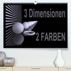3 Dimensionen – 2 Farben (Premium, hochwertiger DIN A2 Wandkalender 2020, Kunstdruck in Hochglanz) von IssaBild