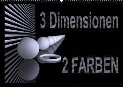 3 Dimensionen – 2 Farben (Wandkalender 2019 DIN A2 quer) von IssaBild