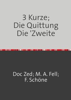 3 Kurze; Die Quittung von Klinger-Zänker (A.C. , US),  Dr.phil.h.c. Christoph