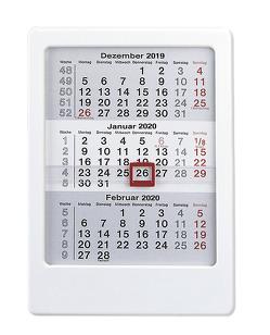 3-Monats-Tischaufsteller 2020 – weiß – Tischkalender (12 x 16) – Bürokalender – mit Datumsschieber von ALPHA EDITION