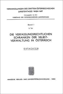 3. Österreichischer Juristentag 1967 Verfassungsrecht von Pernthaler,  Peter