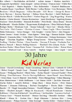 30 Jahre Kid Verlag von Weingartz,  Hans