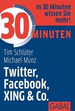 30 Minuten Twitter, Facebook, XING & Co. von Münz,  Michael, Schlüter,  Tim