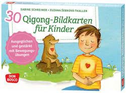 30 Qigong-Bildkarten für Kinder von Schreiner,  Sabine, Šebková-Thaller,  Zuzana