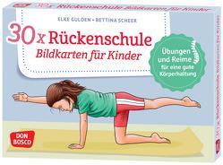 30 x Rückenschule. Bildkarten für Kinder von Gulden,  Elke, Scheer,  Bettina