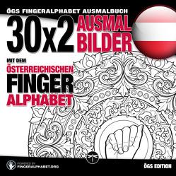 30×2 Ausmalbilder mit dem österreichischen Fingeralphabet von Lassal