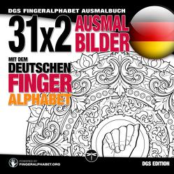 31×2 Ausmalbilder mit dem deutschen Fingeralphabet von Lassal