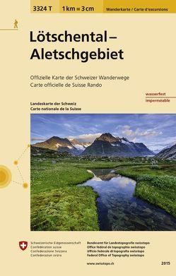 3324T Lötschental – Aletschgebiet Wanderkarte