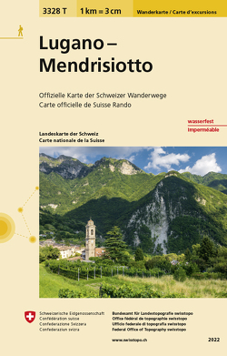 3328T Lugano – Mendrisiotto Carta escursionistica