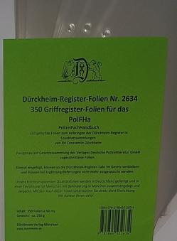 350 Dürckheim-Griffregister-Folien für das PolFHa von Dürckheim,  Constantin von